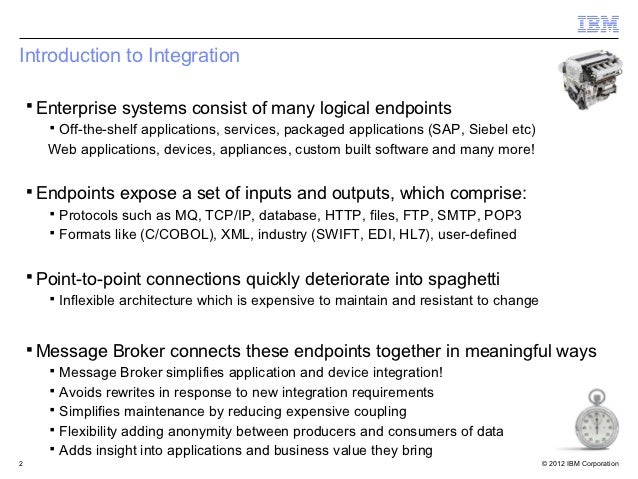 Introduction to Integration    ▪ Enterprise systems consist of many logical endpoints       ▪ Off-the-shelf applications, ...