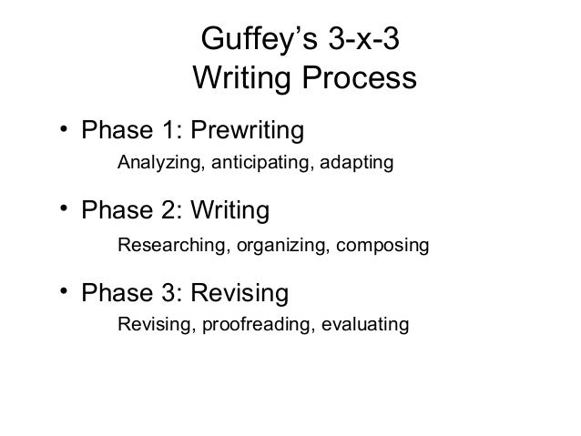 3x3 writing process