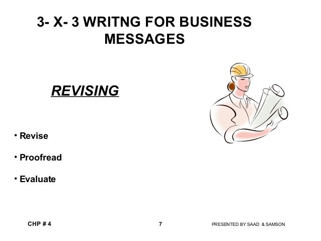 Introduction to messages and the writing process