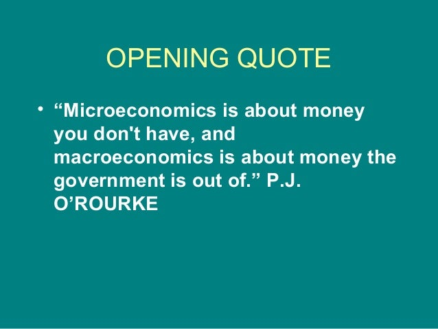 Intro to Microeconomics