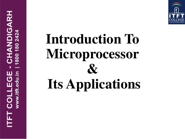 Introduction To Microprocessor & Its Applications