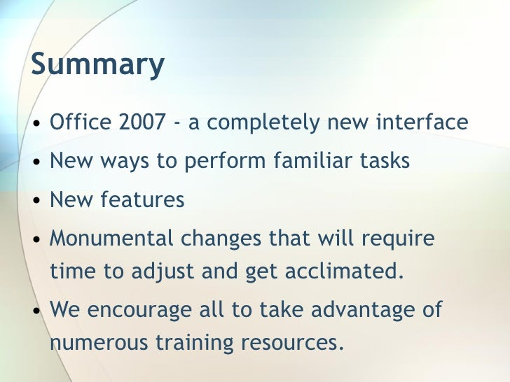 introduction to microsoft office 2007