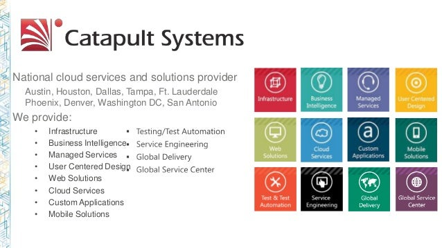 National cloud services and solutions provider Austin, Houston, Dallas, Tampa, Ft. Lauderdale Phoenix, Denver, Washington ...