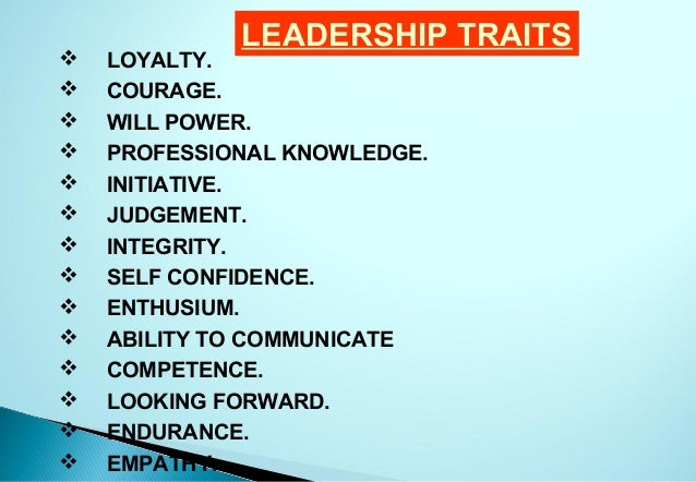 list of leadership characteristics - Kubre.euforic.co