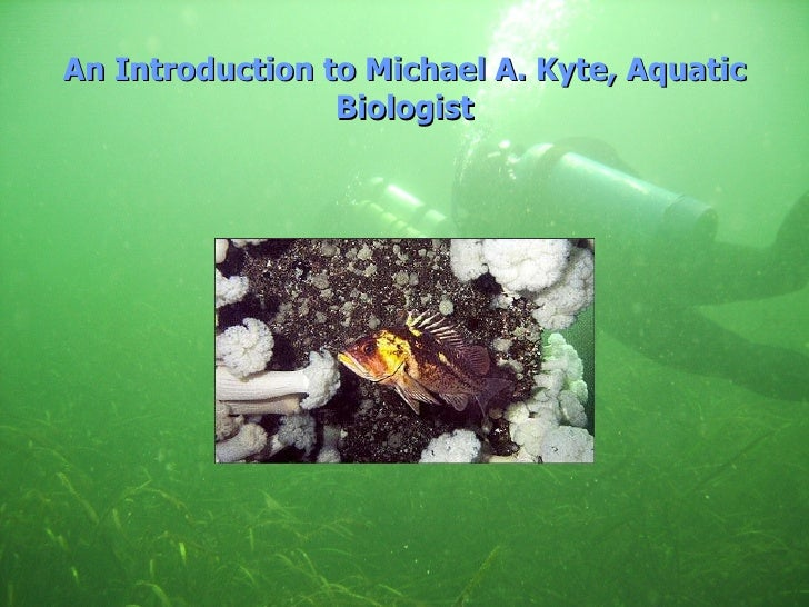 An Introduction to Michael A. Kyte, Aquatic Biologist