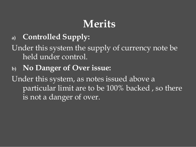 Introduction of currency