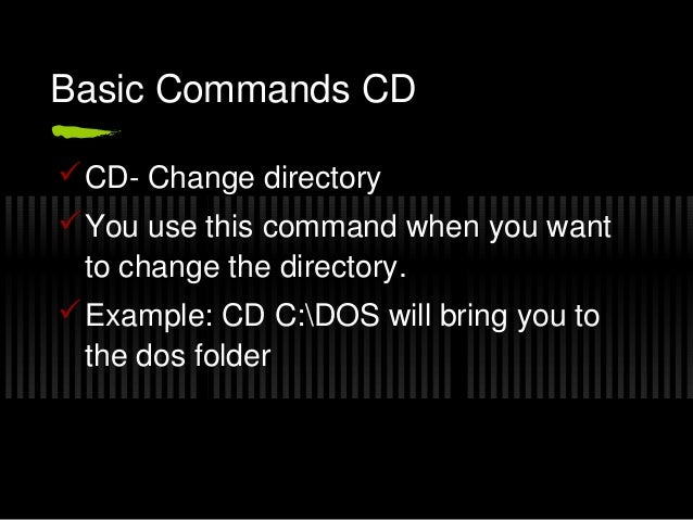 Introduction to ms dos