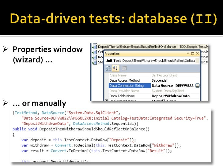 Introduction to testing with MSTest, Visual Studio, and Team