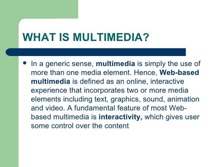 Introduction To Multimedia Slide 2