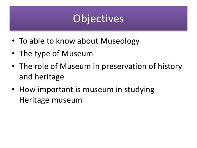 Introduction to museology Slide 2