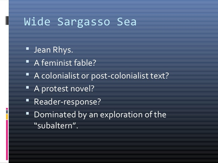 an analysis of the changing ways of jean rhys in wide sargasso sea Wide sargasso sea [jean rhys, edwidge danticat] on amazoncom  in many  ways, it is in fact, a chilling horror story that exposes the harsh realities of  at first  i resisted as i did not want to change my understanding of jane eyre but now i .