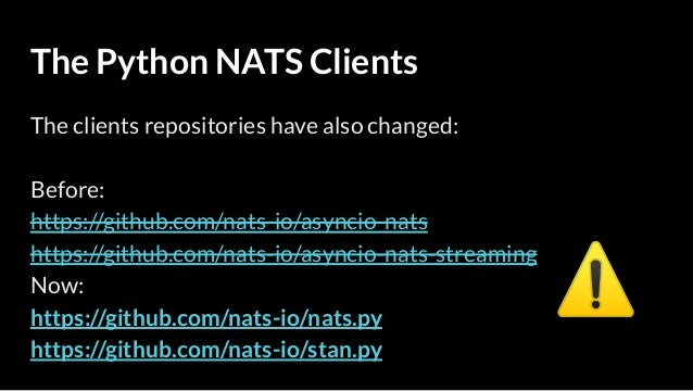 SF Python Meetup - Introduction to NATS Messaging with Python3