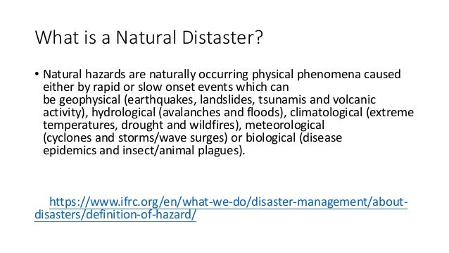 Are Epidemics Natural Disasters