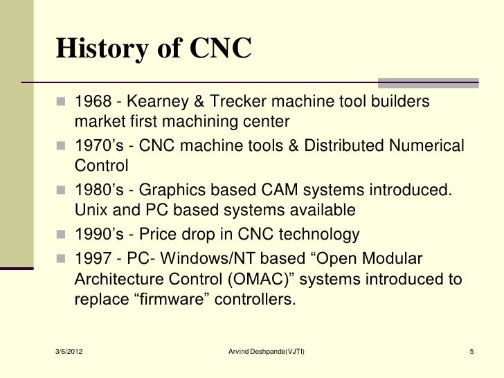 history of cnc machine pdf
