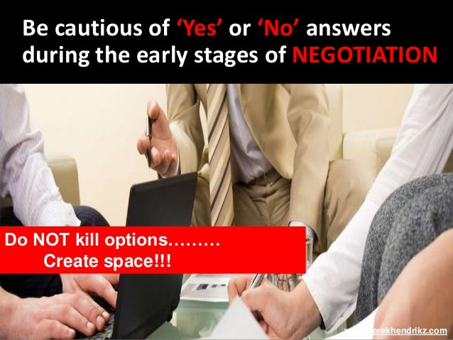 an introduction to the art of negotiation Introduction to the art of negotiation by derek hendrikz covers win-win, win-lose, lose-lose, mutually beneficial agreements, characteristics of a negotiator,.