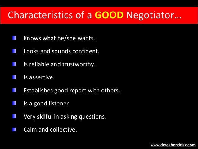Characteristics of Negotiation
