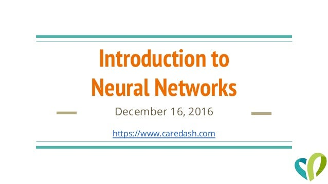 introduction of neural network This tutorial introduces the concept of neural networks and autoencoders, powerful computational models that are used in machine learning if you are interested in knowing more about deep learning, this is the tutorial for you.