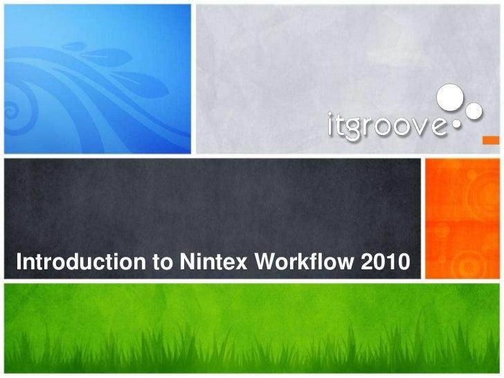 Introduction to Nintex Workflow 2010