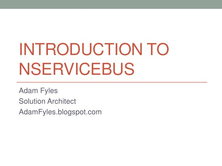 Introduction to NServiceBus
