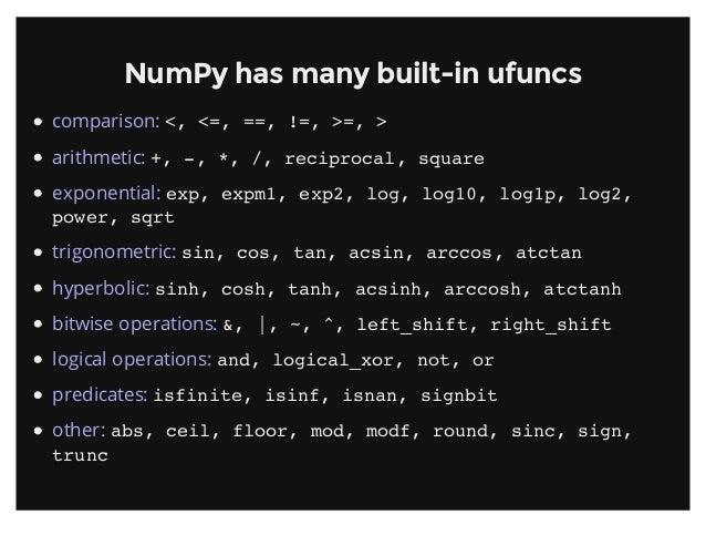 Introduction To Numpy Pydata Sv 2013