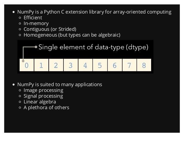 Introduction to NumPy (PyData SV 2013)