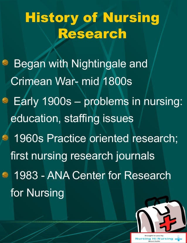 Historical events in nursing research history