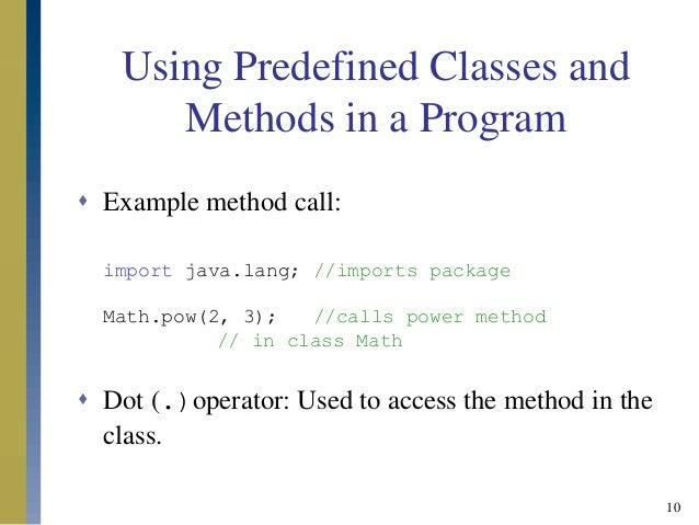 PREDEFINED CLASSES IN JAVA PDF