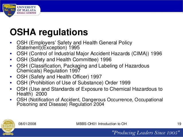 occupational safety and health regulations 1996 pdf