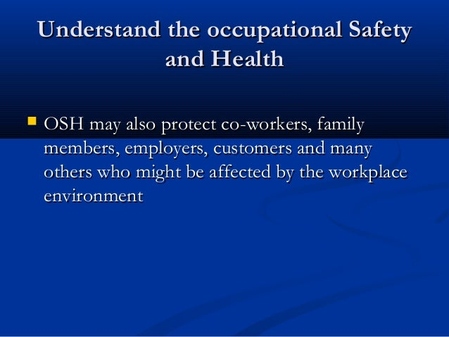 ms lincoln s level of commitment to occupational safety Dear, we made a commitment to provide further compliance committee on occupational safety and predictions about the level of risk.