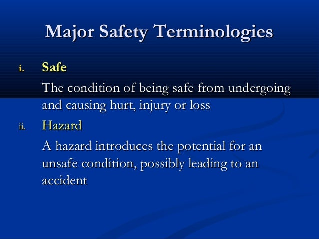 an introduction to the importance of occupational health and safety Occupational safety deals with all aspects of physical, mental and social health and safety in a workplace it is the umbrella for company's efforts to prevent injuries and hazards in all work environments.
