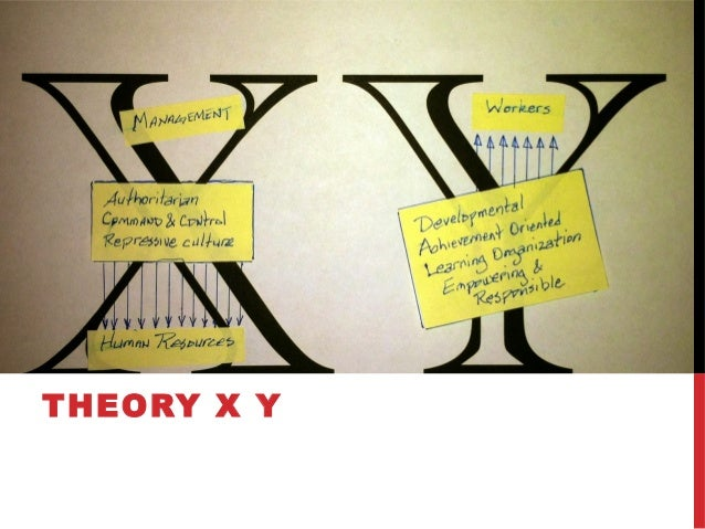 Introduction into the theory x and theory y in douglas mcgregors book the human side of enterprise
