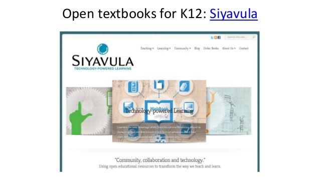 Open textbooks for K12: Siyavula