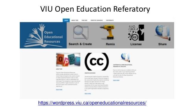 https://wordpress.viu.ca/openeducationalresources/ VIU Open Education Referatory