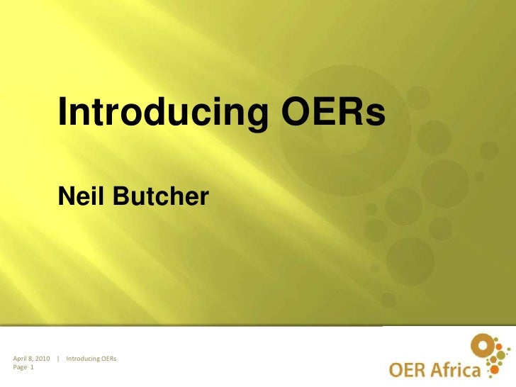 Introducing OERs<br />Neil Butcher<br />