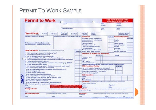 hot work permit template free - sample hot work permit form pictures to pin on pinterest