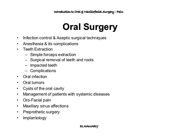 Pain After Oral Surgery