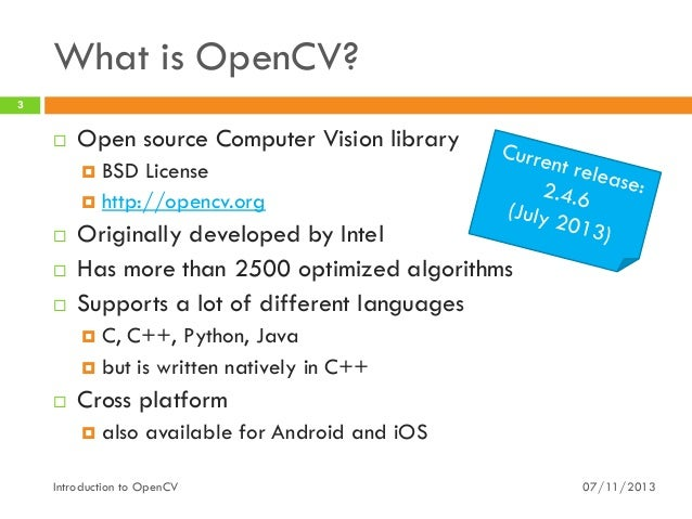 introduction to opencv  with java