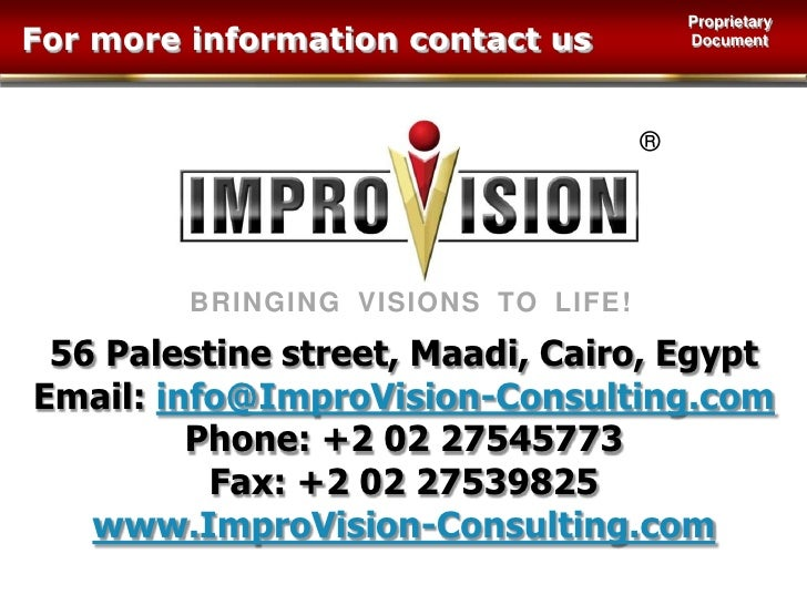 Thank You<br />Copyright ImproVision Consulting, 2009<br />