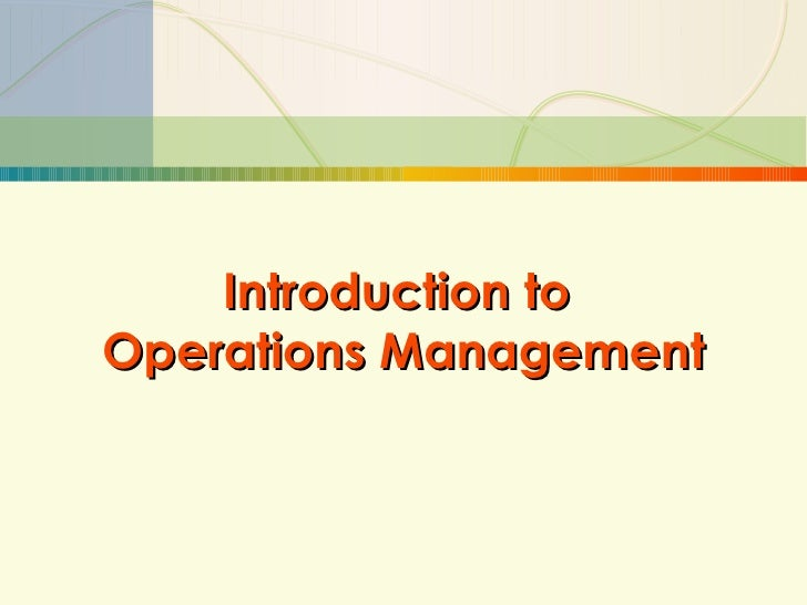 an introduction to management and organization plan