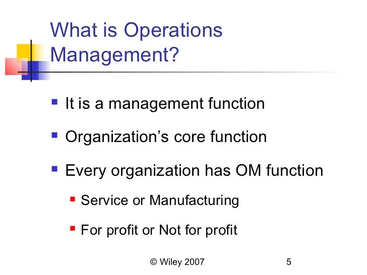 explain briefly the current trends in operations management See the 5 current challenges of operations management here at kettering university online download a brochure today.