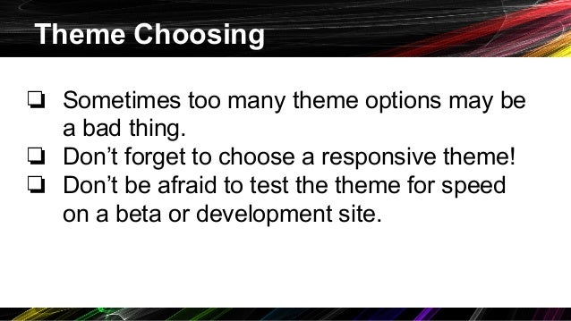 Introduction to Optimizing WordPress for Website Speed slideshare - 웹