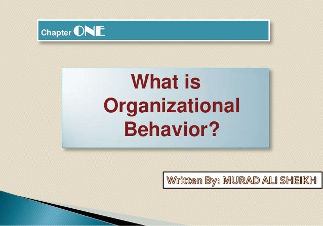 Chapter ONE What is Organizational Behavior?