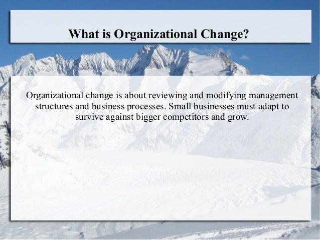Introduction to organizational change Slide 2
