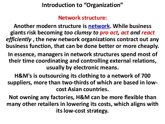 presentation introduction to organization Introduction any operating organization should have its own structure in order to operate efficiently for an organization, the organizational structure is a.