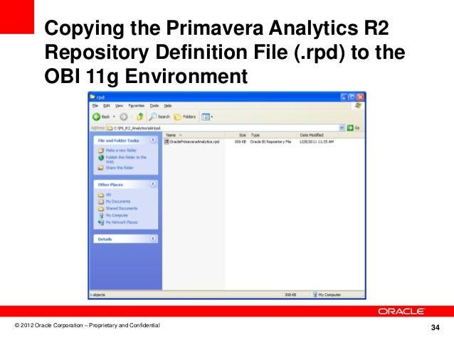 Introduction to P6 Analytics 2 0