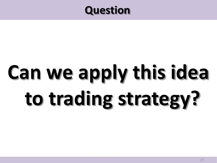 Cointegration trading strategy