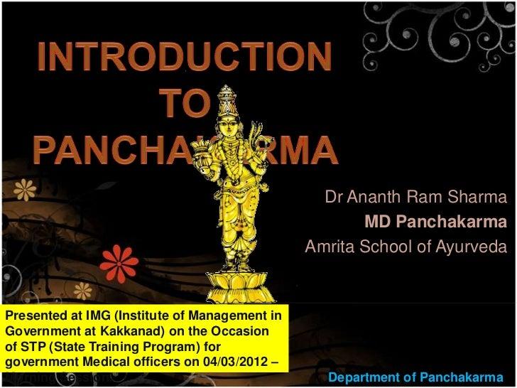 Dr Ananth Ram Sharma                                                      MD Panchakarma                                  ...