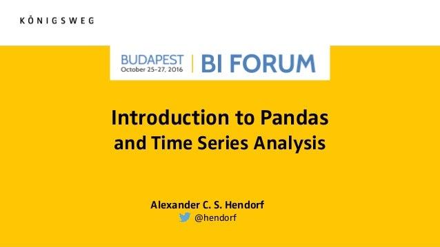 Introduction to Pandas and Time Series Analysis [Budapest BI