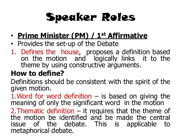How to write a debate 1st speaker teachershapps for First speaker debate template