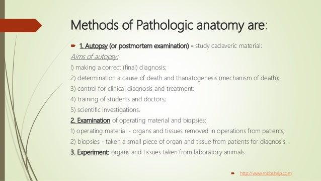 Introduction to pathologic anatomy